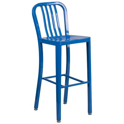 30.25 Bar Stool Finish: Blue