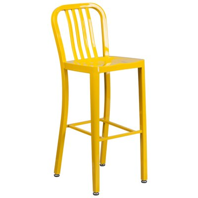 30.25 inch Bar Stool Finish: Yellow