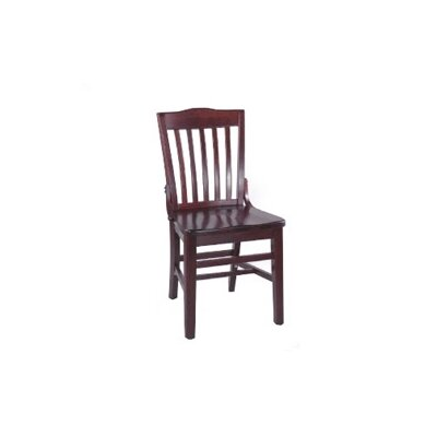 Schoolhouse Side Chair (Set of 2) Finish: Walnut