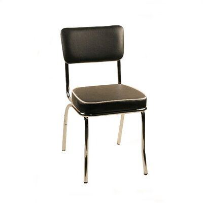 Retro Side Chair (Set of 2) Upholstery: Black