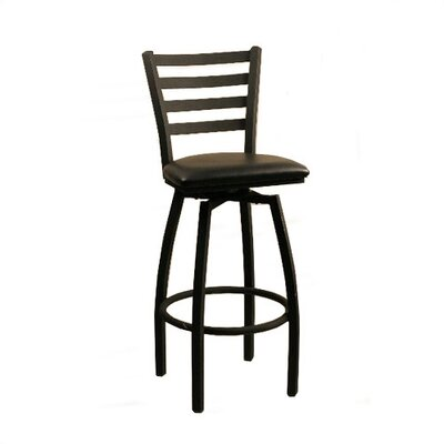 30 Swivel Bar Stool Upholstery: Vizcaya Palm