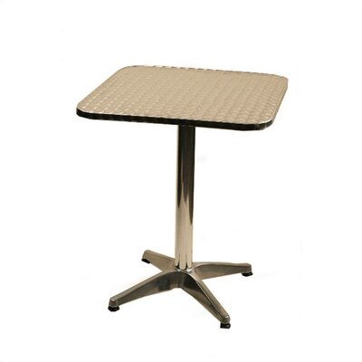 Square Top Aluminum Table Size: 24 x 24