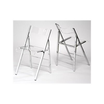 In store financing Lucite Folding Side Chairs (Set of ...
