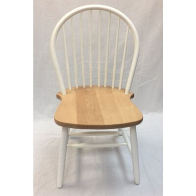 Warren Solid Wood Dining Chair (Set of 2) Color: Natural/White