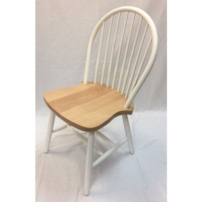 Almon Solid Wood Dining Chair (Set of 2) Color: Natural/White