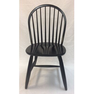 Warren Solid Wood Dining Chair (Set of 2) Color: Black