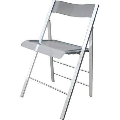 Lucite Folding Side Chair Finish: Clear