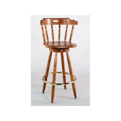 Colonial 30 inch Swivel Bar Sstool Frame Finish: Honey Oak