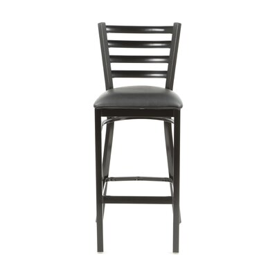 Diana 30 Bar Stool Upholstery: Black