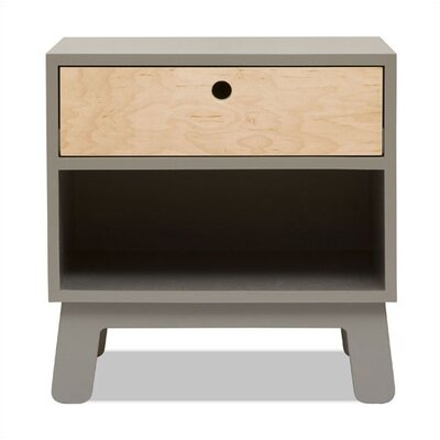 Sparrow 1 Drawer Nightstand Color: Gray