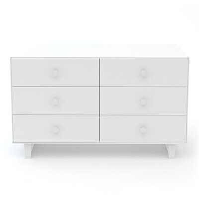 Rhea 6 Drawer Double Dresser Finish: White