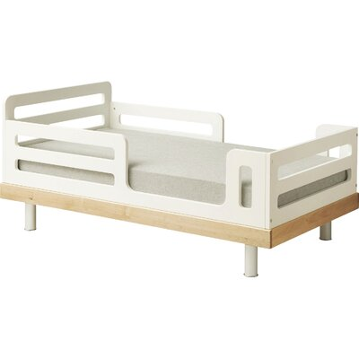 Classic Convertible Toddler Bed Color: Natural Birch