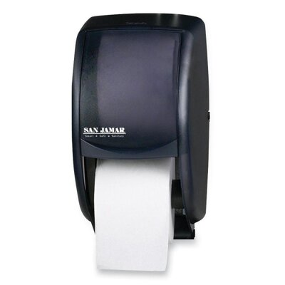 Tissue Dispenser, 7-1/2x7x12-3/4, Black/Pearl