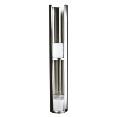 Wall-Mount Lid Dispenser, Stainless Steel SJML3402