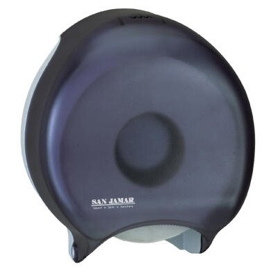 Single Jumbo Toilet Tissue Dispenser in Black Pearl