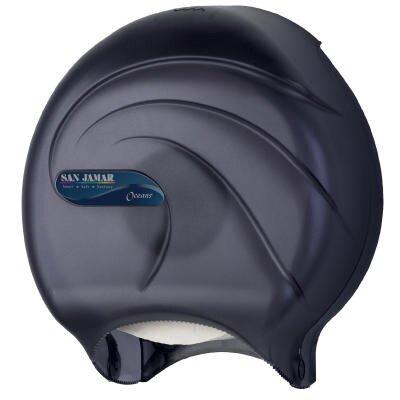 Oceans Single Roll JBT Toilet Tissue Dispenser in Black Pearl