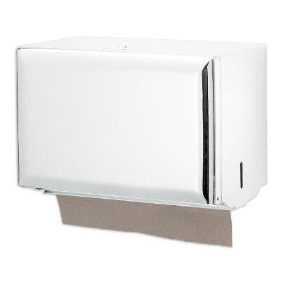 Standard Key-Lock Single fold Towel Dispenser in White
