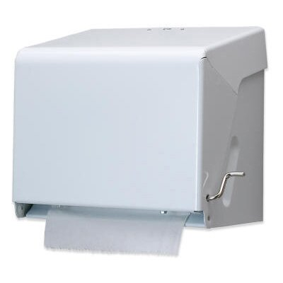 Tear-N-Dry Essence Crank Towel Dispenser in White Enamel