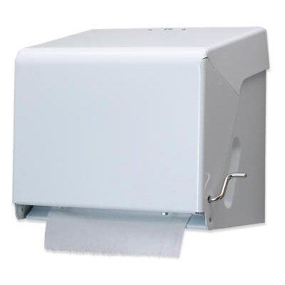 Tear-N-Dry Essence Crank Towel Dispenser in White Enamel