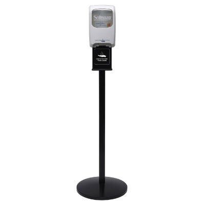 Touch-Free Dispenser Floor Stand in Black