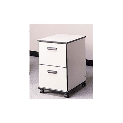 Solutions 2-Drawer Mobile File Cabinet Finish/Trim/Frame: Oiled Cherry/Black/Black Product Picture 67