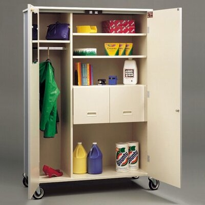 Deluxe 2 Door Storage Cabinet Body Color/Trim: Grey Nebula/Black, Shelving: Fixed Product Image 623