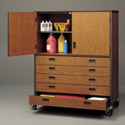 Fleetwood Storage Cabinet with Five Drawers and Shelf - Size: 48