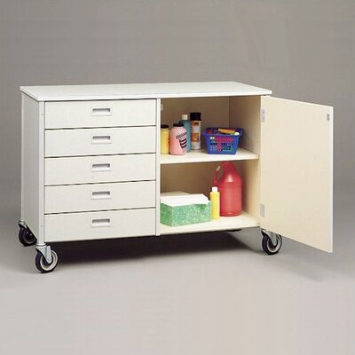 Fleetwood Five Drawer Storage Cabinet with Shelf - Size: 34