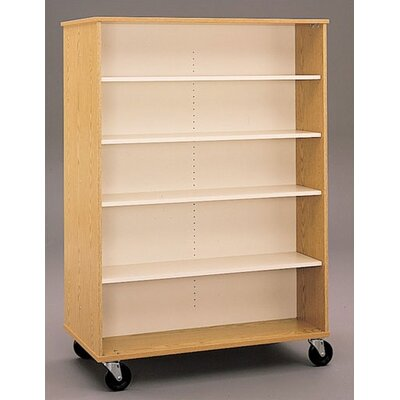 Encore Mobile Bookcase Size: 36 x 48 W x 24 D, Casters: 4 Non-Locking, Color/Trim: Light Oak/Light O Product Picture 67