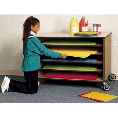 Open Paper Storage Shelf Cart Dimensions: 34