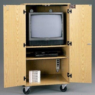 "Fleetwood Mobile TV / VCR Multimedia Cabinet - Size: 64""H x 41""W x 29""D (QuickShips with Lt. Oak Color), Color/Trim: Grey ..."