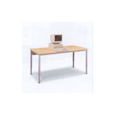 Short Training Table with Flip Top Wire Management and Adjustable Height Color/Trim/Frame: Oiled Che Product Picture 67