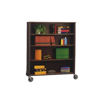 Library Double Sided 72 Bookcase Color/Trim: Mahogany/Black Product Picture 608