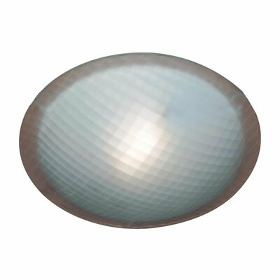 Nuova 1-Light Flush Mount Finish / Size / Bulb Type: Iron / 4.5 H x 20 W / J118mm