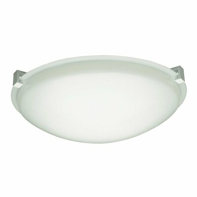 Valencia Flush Mount Finish / Size / Bulb Type: White / 3.5 H x 12 W / J118mm
