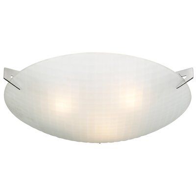 Contempo Flush Mount Size: 3.5 H x 17 W