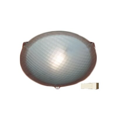 Nuova 1-Light Flush Mount Finish / Size / Bulb Type: Polished Brass / 3.5 H x 12 W / J118mm