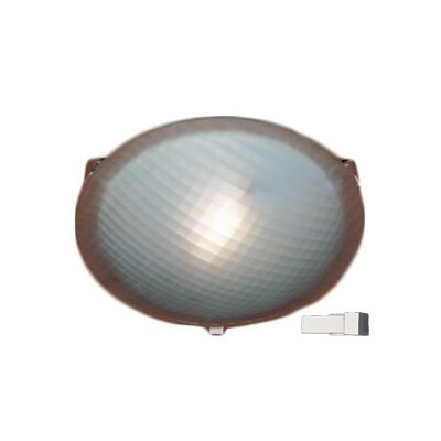 Nuova 1-Light Flush Mount Finish / Size / Bulb Type: Polished Chrome / 3.5 H x 12 W / J118mm