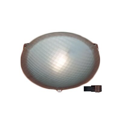 Nuova 1-Light Flush Mount Finish / Size / Bulb Type: Rust / 3.5 H x 12 W / J118mm