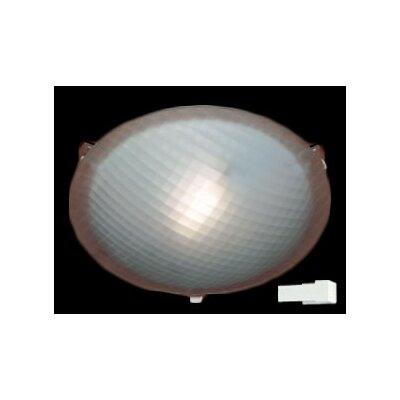 Nuova 1-Light Flush Mount Finish / Size / Bulb Type: White / 3.5 H x 12 W / J118mm