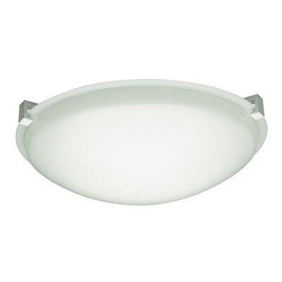 Cloud Flush Mount Finish / Size / Bulb Type: White / 5 H x 16 W / Quad18 (G24q-2)