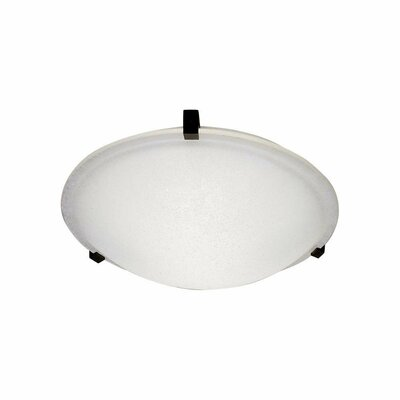 Nuova Flush Mount Finish / Shade Color / Size / Bulb Type: White / Frost / 3