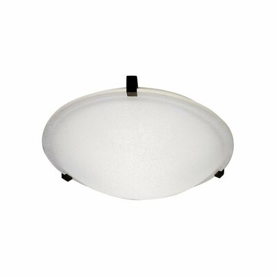 Nuova Flush Mount Finish / Shade Color / Size / Bulb Type: Iron / Frost / 3.5 H x 12 W / J118mm