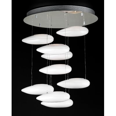 Aquarium 9-Light Waterfall Chandelier Color: Opal