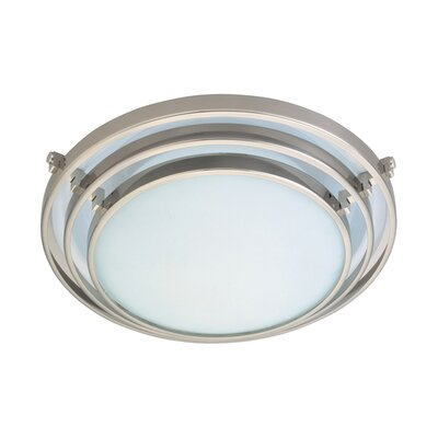 Cascade 1-Light Flush Mount Finish / Size: Satin Nickel / 3 H x 12.5 W