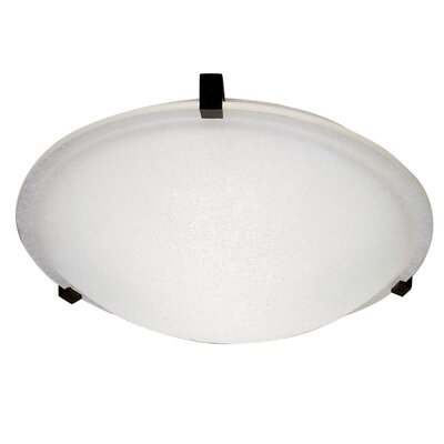 Nuova Flush Mount Finish / Shade Color / Size / Bulb Type: Rust / Frost / 4 H x 16 W / J118mm