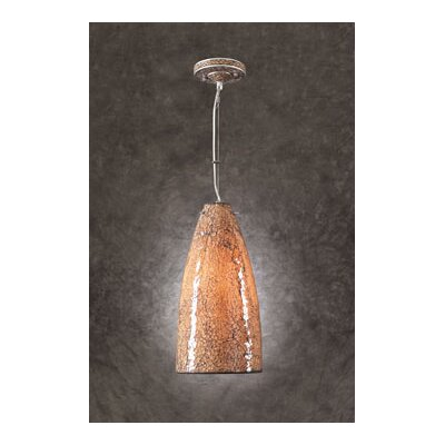 Renoir 1-Light Mini Pendant Shade Color: Crackle Amber