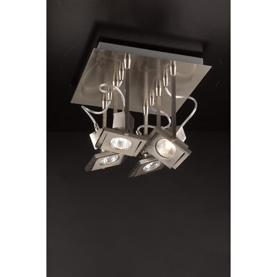 Square 8 Semi Flush Mount