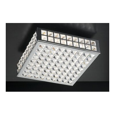 "PLC Lighting Jewel Semi Flush Mount - Size: 4.5"" H x 12"" W x 12"" D at Sears.com"