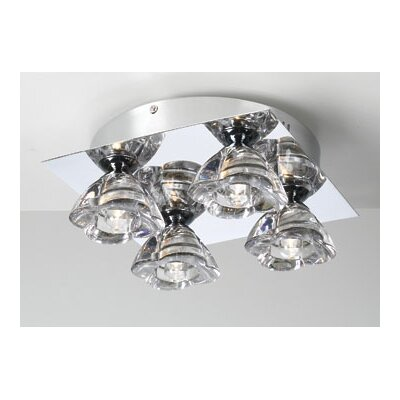 Aquaria 4-Light Semi Flush Mount